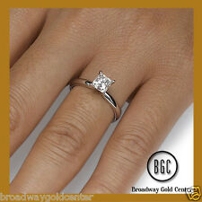1.00 CT PRINCESS CUT SOLITAIRE ENGAGEMENT RING 14K SOLID WHITE GOLD ON SALE!!