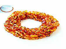 10 Baltic Amber Baby Necklace Beans Honey Amber Necklace Child Necklace   (V25)