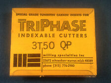 NIB TriPhase Carbide Indexable Cutters 3T50QP 5-Pack