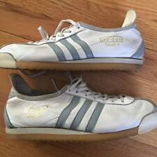 VTG Adidas Italia Sneakers US 6 White Leather Gray Shoes