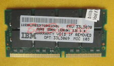 IBM 256MB X1 SODIMM 144PIN PC100 SDRAM 16chip LOW DENSITY US RAM 03