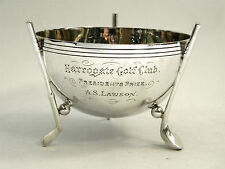 ANTIQUE GOLF TROPHY / CUP / PRIZE LONDON 1904 HARROGATE GOLF CLUB