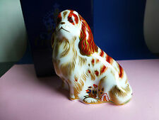 Royal Crown Derby Paperweight LTD Edition  King Chares Spaniel 1st Quality Box
