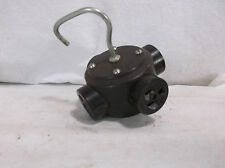 VINTAGE HUBBELL 4 OUTLET CLUSTER RECEPTICLE # 9259  GROUNDING 5935-00-982-7451