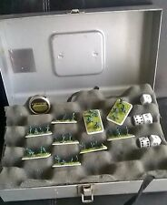 Flames of War 43 PIECES W/ RARE METAL STORAGE CASE Tanks (4) Platoons (23) Men 8