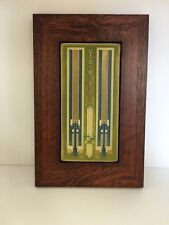 Motawi Avery Coonley Rug Tile in a Family Woodworks Oak Park Arts & Crafts Frame