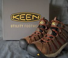 Mens KEEN Flint Mid Steel Toe Safety Boots size 8.5 D