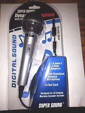 Digital Sound Professional Microphone with 9ft (280cm) Cord, plug 3.5mm 6.3mm