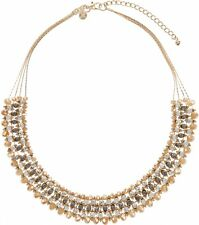 NEW NWT MONSOON ACCESSORIZE NUDE SILVER ELLIE SPARKLE STATEMENT NECKLACE CHAIN
