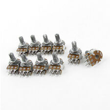 10PCS Top Adjustment Linear Dual Knurled Shaft Potentiometer 50K Ohm B50K LW