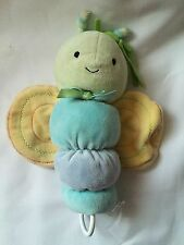 """Carters Child of Mine Butterfly Plush Music Crib Pull Toy 8"""""""