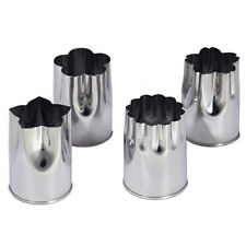 Japanese 4 Pcs Vegetable Mold Flower Cutter Sushi18-8 Stainless/Small/Made Japan