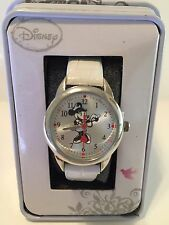 New Disney Minnie Mouse NURSE , White Leather Watch. New/warranty/box.+free Gift