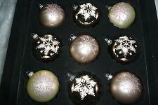 Exklusive Christbaumkugeln Weihnachtskugeln Christbaumschmuck Glas beige braun
