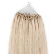 "50 Strand 0.5g Stick Loop Micro Ring Remy Human Hair Extensions 18"" Blonde #60"