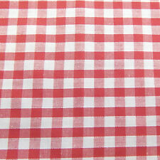 "Corded Gingham Fabric 1/4"" (6.35mm) Check Dress Material  -44"" (112cm) wide"