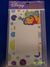 RARE Winnie the Pooh 1st Birthday Boy Party Thank You Cards Photo Frame Notes *