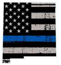 New Mexico State (U32) Cop Thin Blue Line Vinyl Yeti Tumbler Decal Sticker