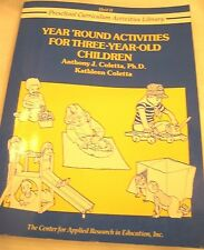 """BOOK """"YEAR'ROUND ACTIVITIES FOR THREE-YEAR-OLD"""" Preschool-Daycare-Home School"""