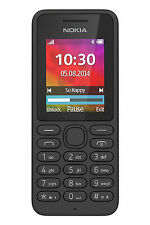 """Nokia 130 Mobile Phone Black 1.8"""" Screen With 2G And Bluetooth Unlocked Sim Free"""