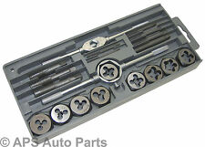 20pc Tap And Die Set High Carbon Steel Case Cutter Heavy Duty Professional New