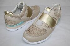 UGG AUSTRALIA ANNETTE TEXTILE / LEATHER BUFF TRAINER TENNIS SHOE SIZE 8.5 US