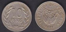COLOMBIE   10 PESOS 1989