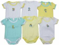 Baby White Onesies Short Sleeves Bodysuit 6-Pack Unisex Boys Girls Newborn 0-6M