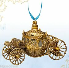 New Disney Store Cinderella Live Action Film Coach Ornament Gold Carriage