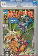 Wolverine #41 CGC 9.8 Cable, Sabretooth KEY Battle Issue 1991