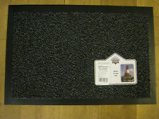 New Bruce Starke Shannon Vinyl Backed Door Mat Doormat 40cm x 60cm Grey & Black