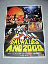 WAR IN SPACE Orig TOHO ALIEN SPACECRAFT SCI-FI Movie Poster GALAXIAS JUN FUKUDA