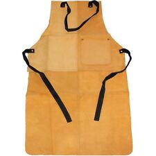 Heavy Duty Suede Leather Welders Welding Blacksmiths Glaziers Apron Bib +Pocket