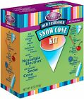 Nostalgia Snow Cone Maker Machine Supply Kit w/ Flavor Syrups Serving Cups Spoon