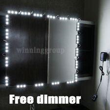 10' LED Mirror Light Kit Hollywood Makeup Mirror Light, Vanity White with Dimmer