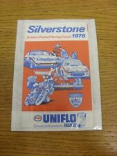 1976 Motor Racing: Silverstone, What On Guide, 12 Page Open Out Style Pocket Gui