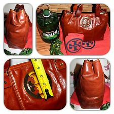 CHIC- TORY BURCH EXTRA LARGE BROWN LEATHER TOTE/PURSE/HANDBAG!