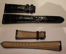 RARE BRACELET DE MONTRE PATEK PHILIPPE CALATRAVA 20 mm @ CROCODILE VERITABLE P13