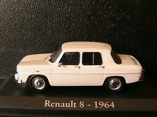 RENAULT 8 1964 WHITE RBA COLLECTABLES 1/43 BLANCHE 1/43 R8 BOITIER BLISTER WEISS