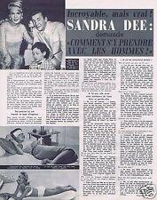 Coupure de presse Clipping 1967 Sandra Dee   (1 page)