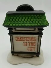 Dept 56 Christmas in the City Village Sign 59609 Retired NEW in Box Old Stock