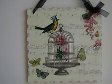 Shabby Chic Vintage Picture Plaques Lovely Hand made Gift Wrapped !