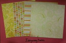 Basicgrey ROMANI LIME RICKEY spring floral paper cardstock 16 pk 6 x 6 (1413)