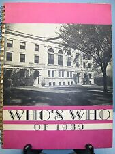 1939 Who's Who, State Teachers College, North Adams, Massachusetts Yearbook