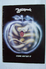 WHITESNAKE - 1981 Come An' Get It Tour Programme - Signed By Micky Moody