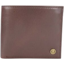 Fred Perry Camo Print Billfold Men's Leather Wallet -- L7316-103 - Brown