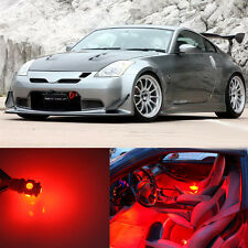 5Pcs Red Lights SMD LED Interior Package Kit For Nissan 350Z Z 2003-2008