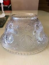 Vintage Cut Clear Etched Glass light fixture Lamp Shade Fitter Ceiling