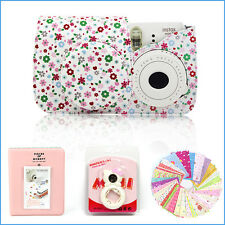 Gmatrix 4 in 1 Fujifilm Instax Mini 8 Case Bag Accessory Bundle Best Gift Floral