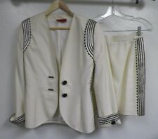 VALENTINO NIGHT TWO PIECE SKIRT & JACKET SUIT   SIZE 4 GOOD USED